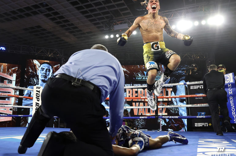 Oscar Valdez Captures Title and Shocks the Boxing World with Vicious Knockout of Miguel Berchelt