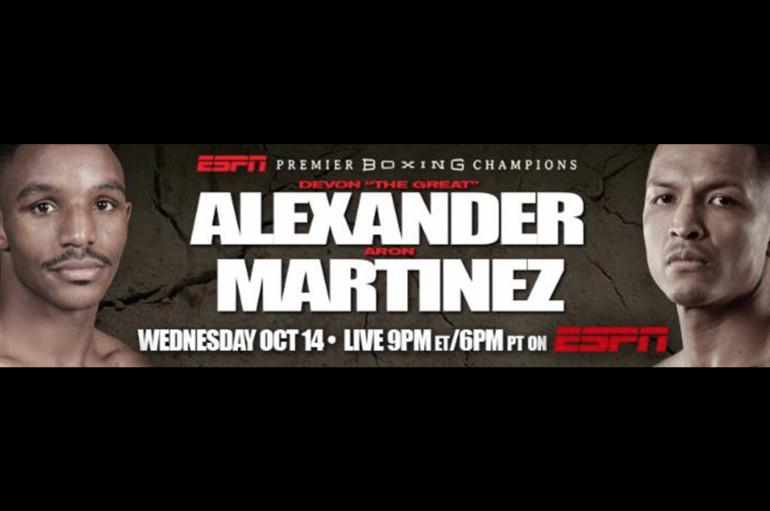 Devon Alexander vs Aaron Martinez – Wed. Oct. 14th  – 9PM ET/6PM PT @ ESPN