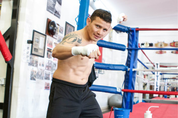 Oscar Escandon prepares at Dreamland Boxing for Interim WBC Featherweight Title March 5th in D.C.
