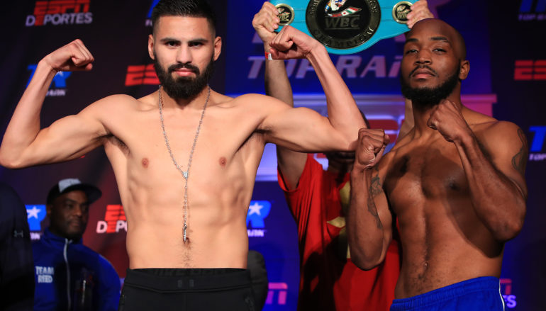 Weigh in results for Top Rank's Saturday card on ESPN